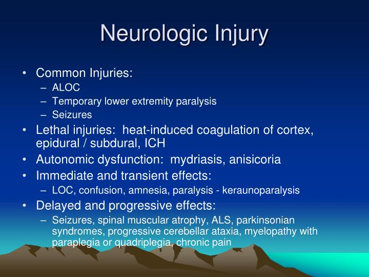 Neurologic Injury