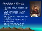 physiologic effects