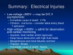 summary electrical injuries