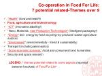 co operation in food for life 7 potential related themes over 9