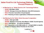 italian food for life technology platform process phases 1