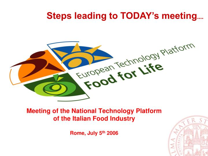 Meeting of the National Technology Platform