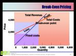 break even pricing