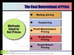 the cost determinant of price1