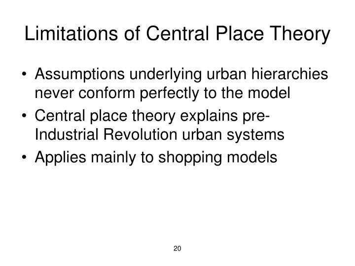 Limitations of Central Place Theory