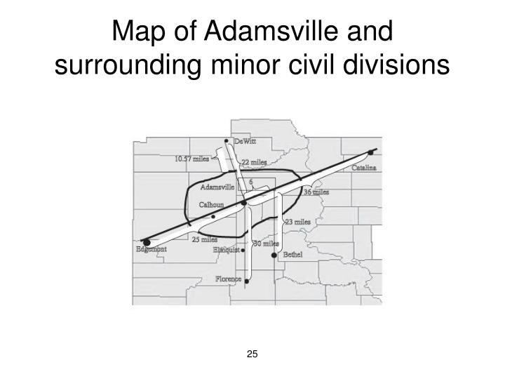 Map of Adamsville and