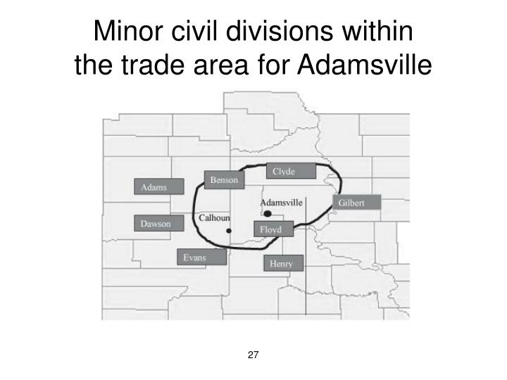 Minor civil divisions within