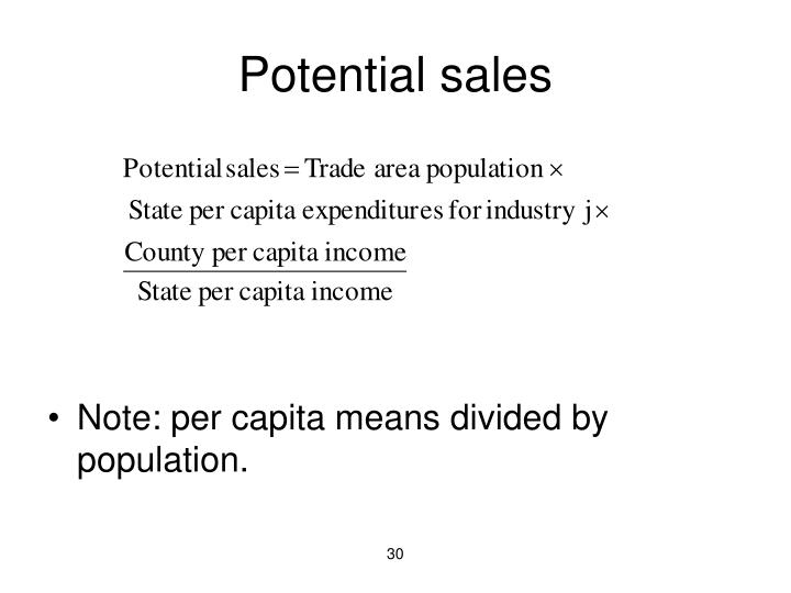 Potential sales
