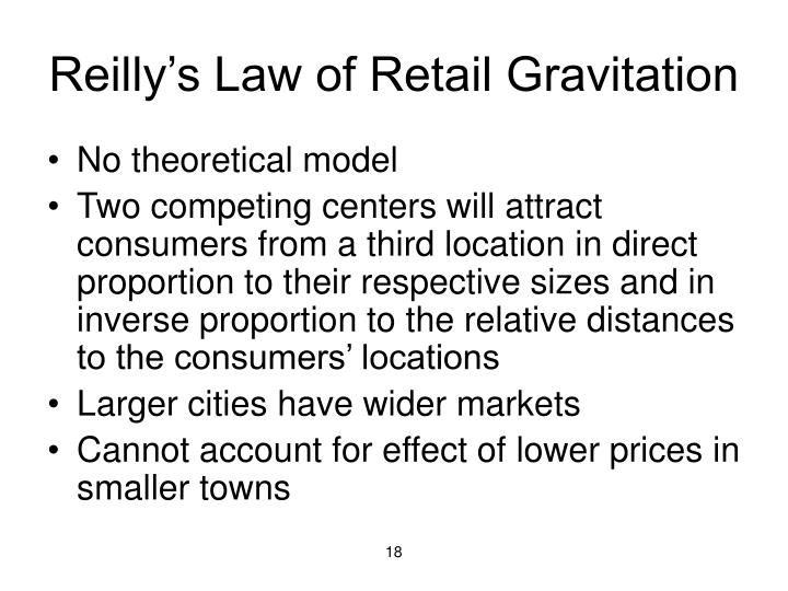 Reilly's Law of Retail Gravitation