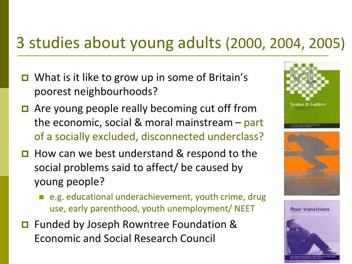3 studies about young adults