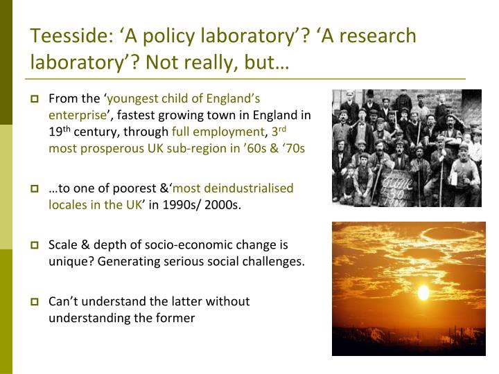 Teesside: 'A policy laboratory'? 'A research laboratory'? Not really, but…