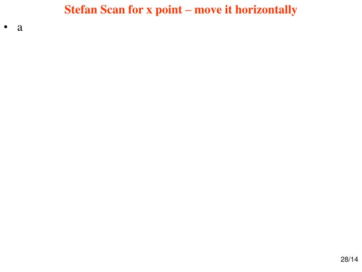 Stefan Scan for x point – move it horizontally