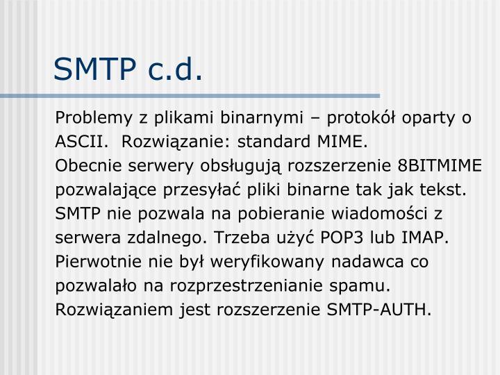 SMTP c.d.