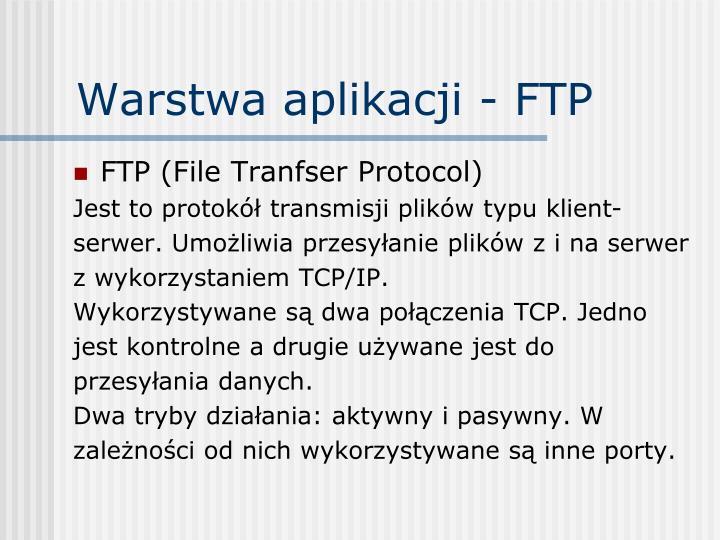 Warstwa aplikacji - FTP