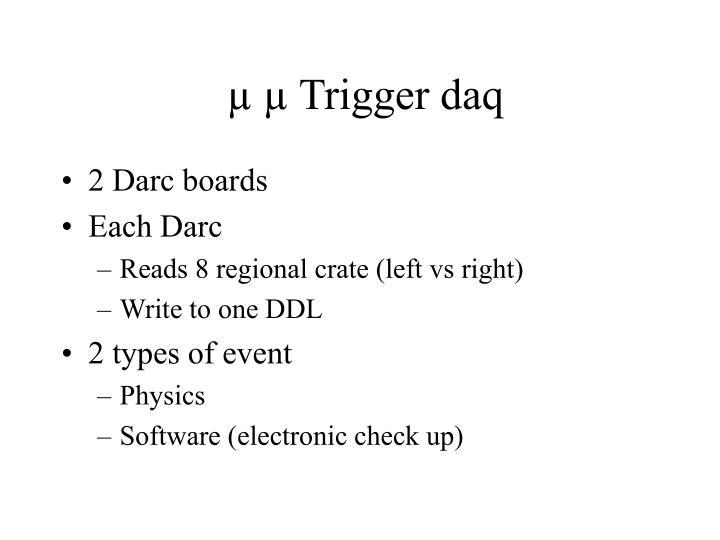 µ µ Trigger daq