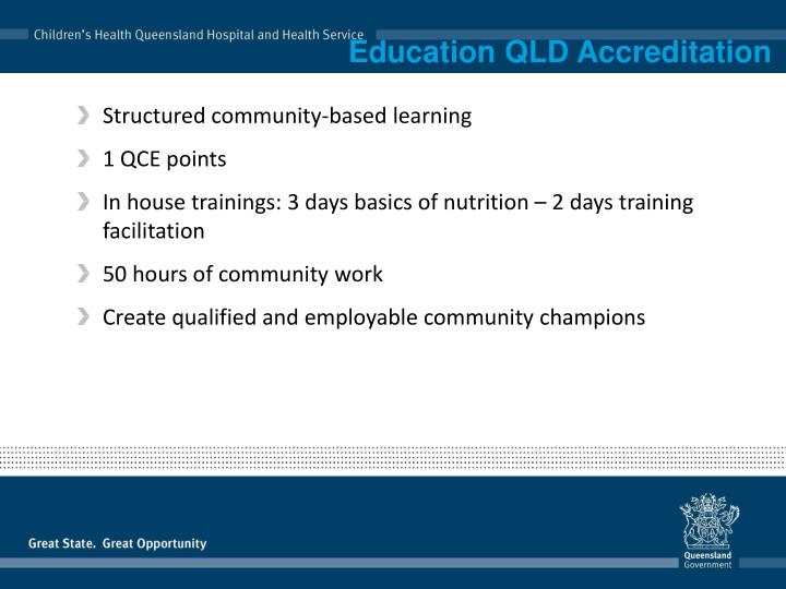 Education QLD Accreditation
