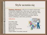 style uczenia si2