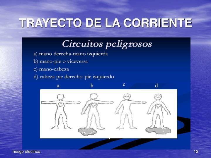 TRAYECTO DE LA CORRIENTE