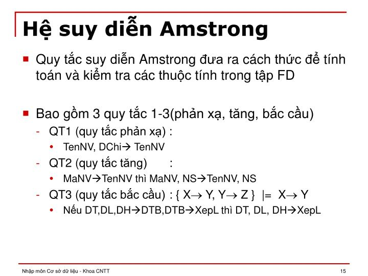 Hệ suy diễn Amstrong