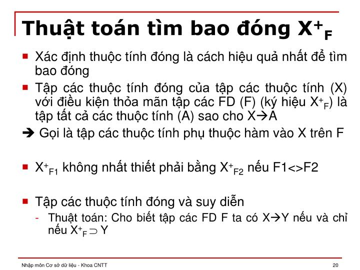 Thuật toán tìm bao đóng X