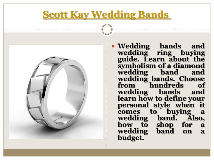 Scott Kay Wedding Bands