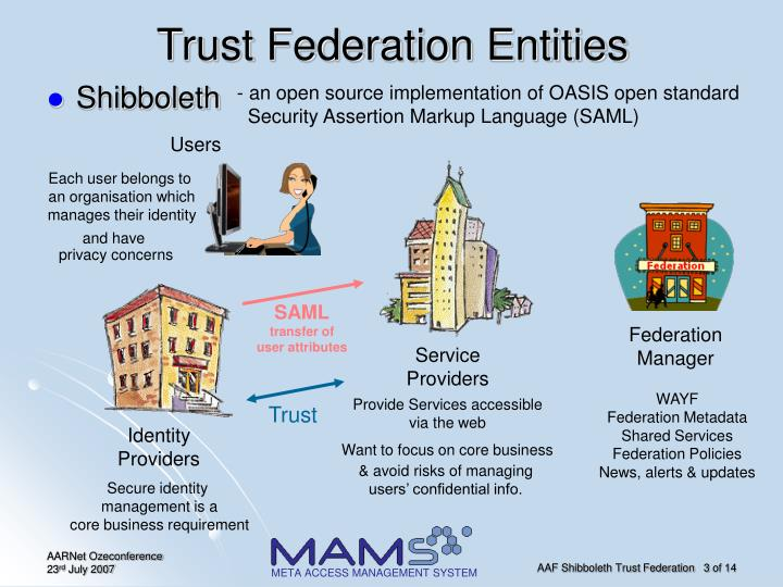 Trust federation entities