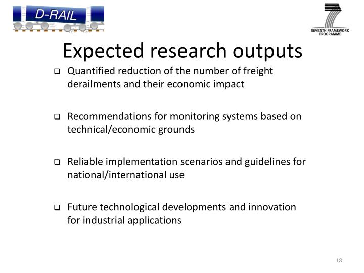 Expected research outputs