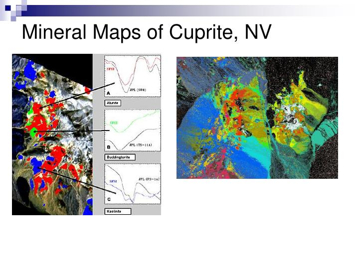 Mineral Maps of Cuprite, NV