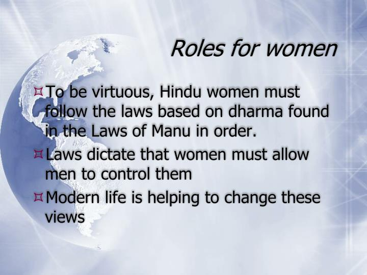 Roles for women