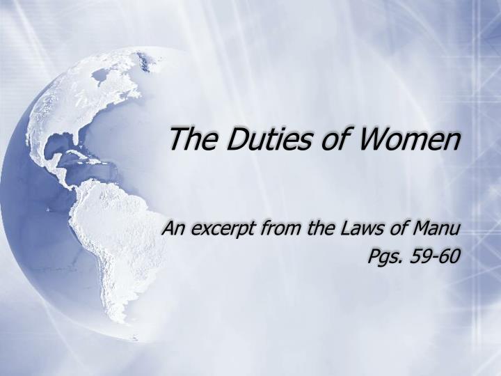 The Duties of Women