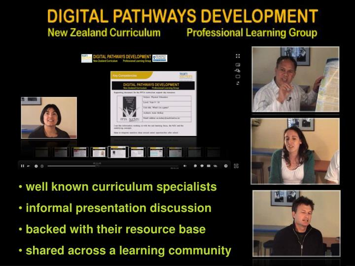well known curriculum specialists