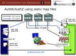authn authz using static map files