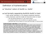 definition of authentication