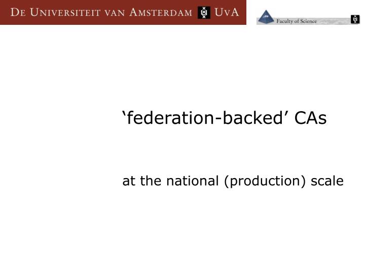 'federation-backed' CAs