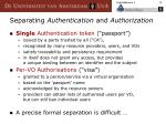 separating authentication and authorization