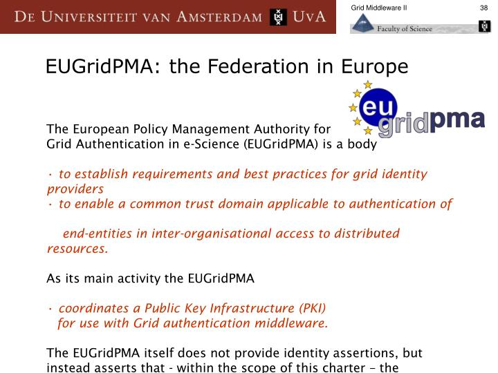 The European Policy Management Authority for