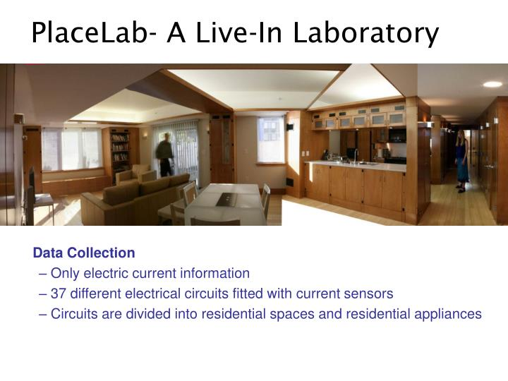 PlaceLab- A Live-In Laboratory