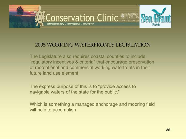 2005 WORKING WATERFRONTS