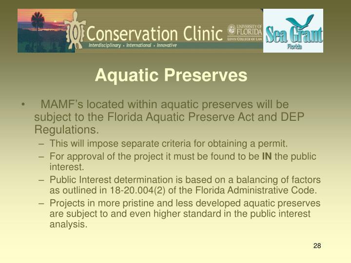 Aquatic Preserves