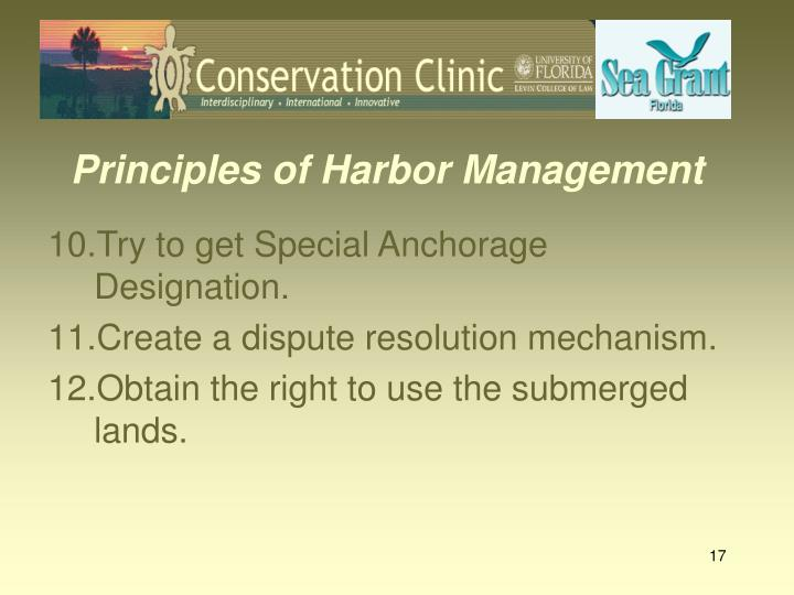 Principles of Harbor Management