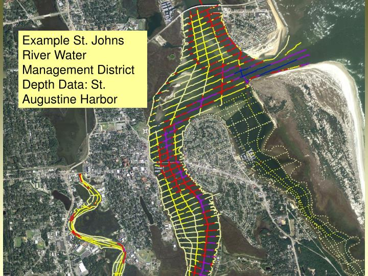 Example St. Johns River Water Management District Depth Data: St. Augustine Harbor