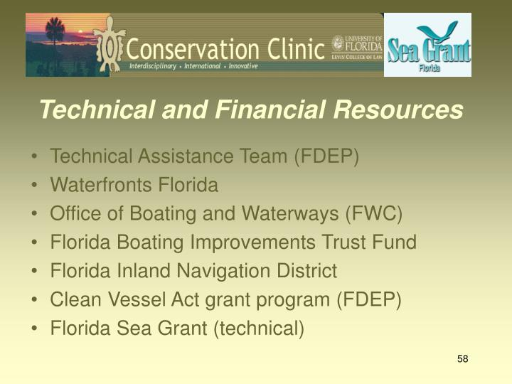 Technical and Financial Resources