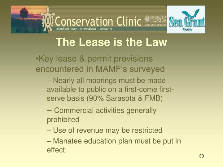 The Lease is the Law