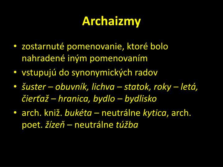 Archaizmy
