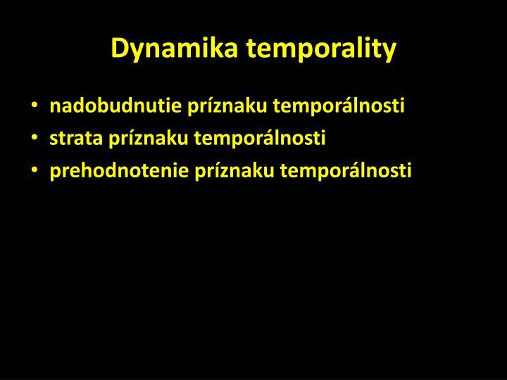 Dynamika temporality