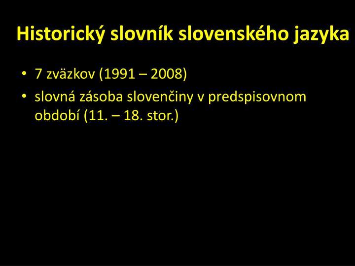 Historický slovník slovenského jazyka