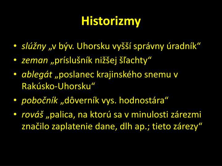 Historizmy