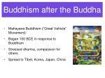 buddhism after the buddha