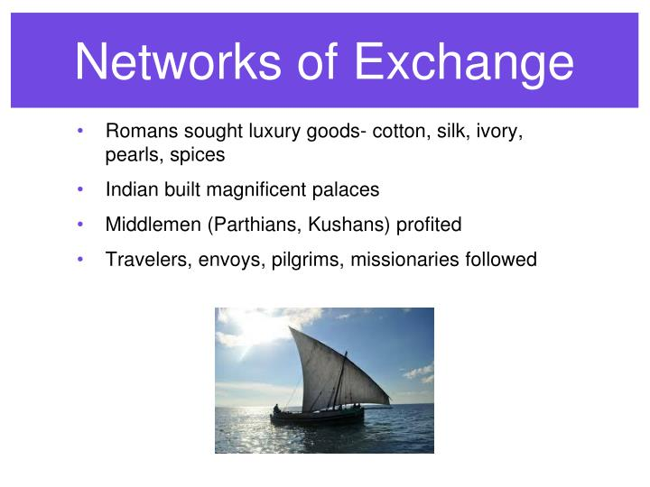 Networks of Exchange