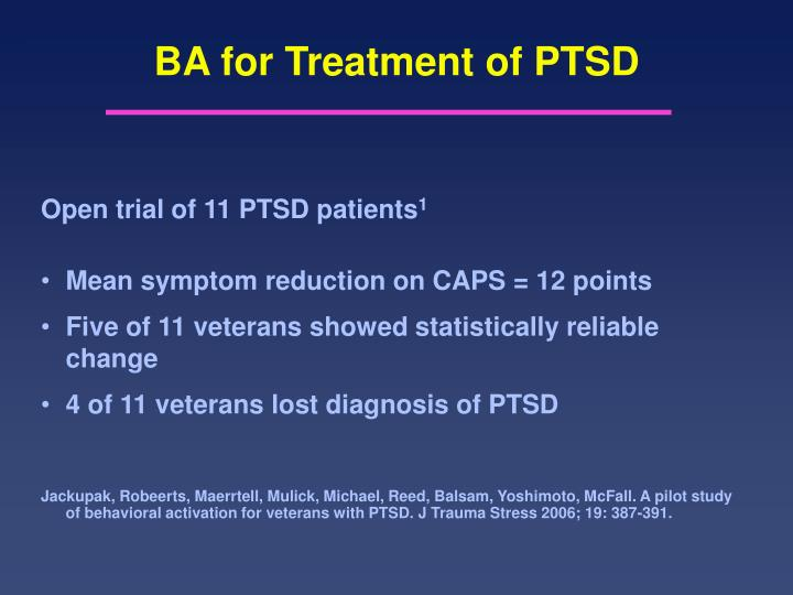 BA for Treatment of PTSD